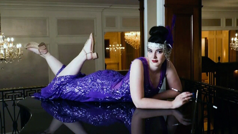 Purple themed photoshoot for epilepsy awareness