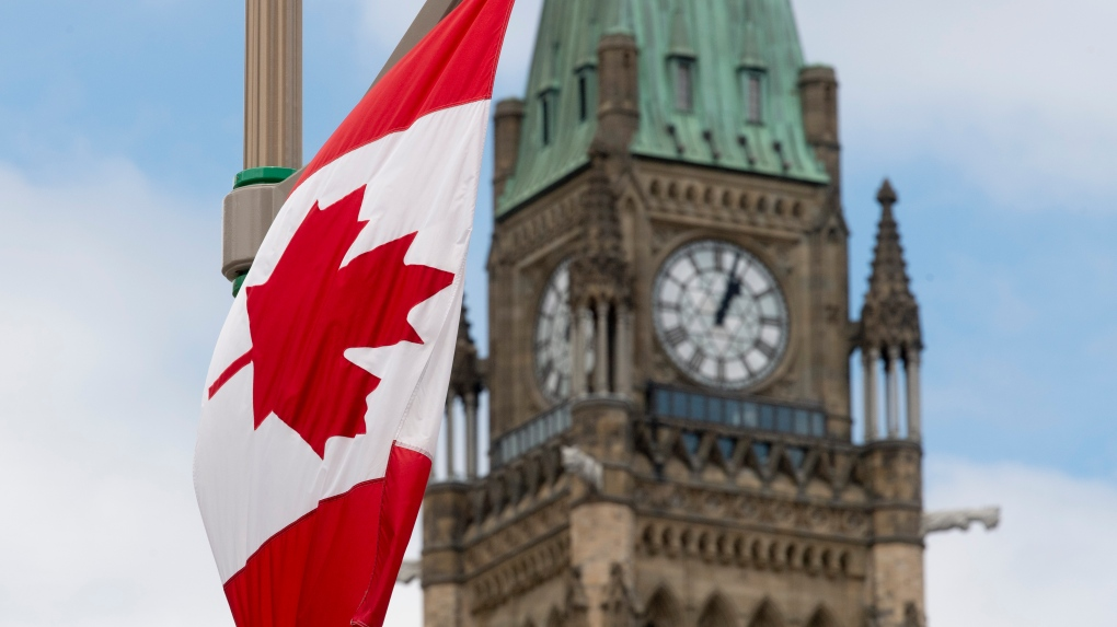 Parliament buildings ahead of Canada Day in Ottawa