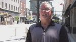 Todd Tuckey, Interim Executive Director of the Barrie Chamber of Commerce on Tues., June 30, 2020 (Madison Erhardt/CTV News)
