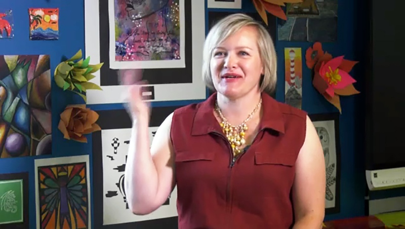 She inspires young artists to create and she's this week's Inspired Albertan, Heather Nelson. Darrel Janz reports