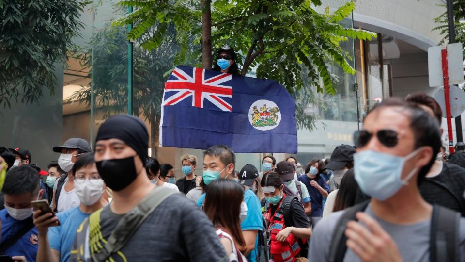 Hong Kong colonial flag