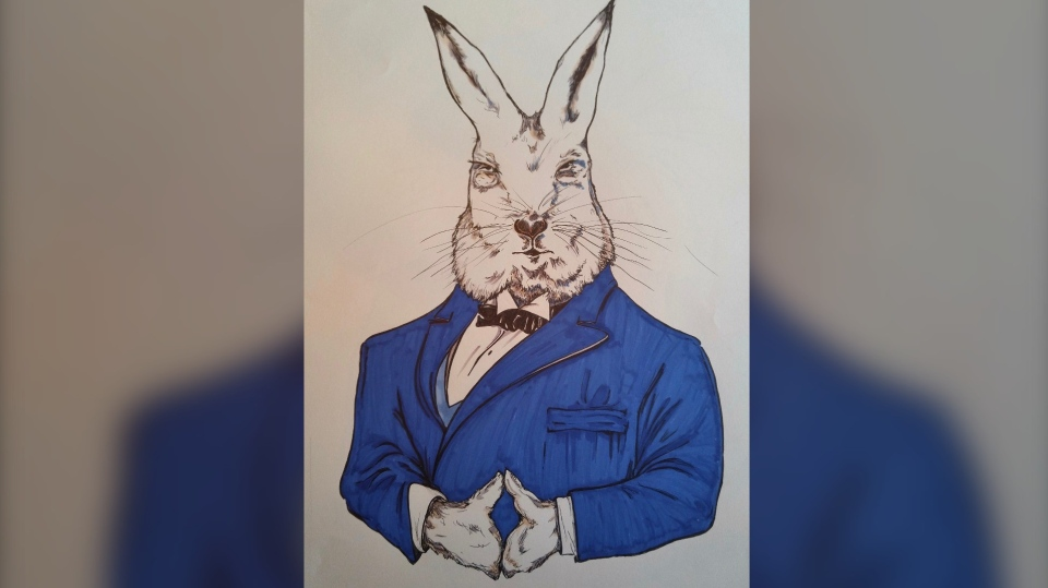 Ottawa artist John Shirreff's Countdown to Canada Day – Prime Minister John Abbott (Arctic Hare) (Photo courtesy: John Shirreff)