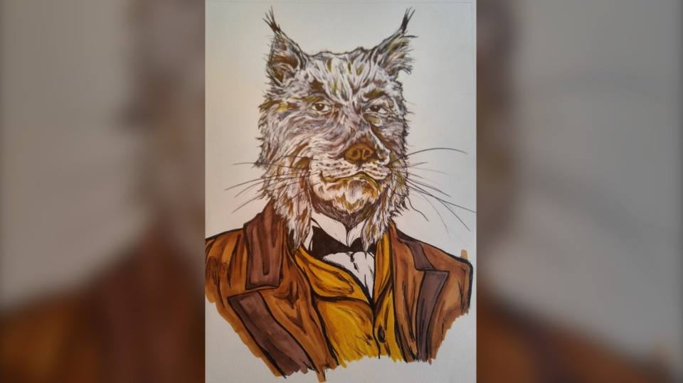 Ottawa artist John Shirreff's Countdown to Canada Day – Prime Minister Charles Tupper (Lynx) (Photo courtesy: John Shirreff)