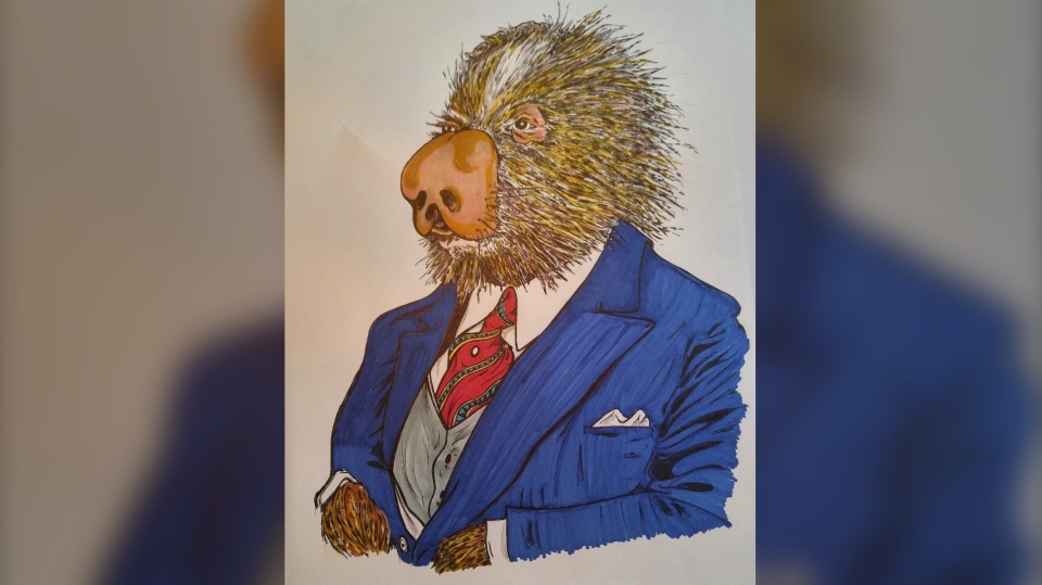 Ottawa artist John Shirreff's Countdown to Canada Day – Prime Minister William Lyon Mackenzie King (Porcupine) (Photo courtesy: John Shirreff)