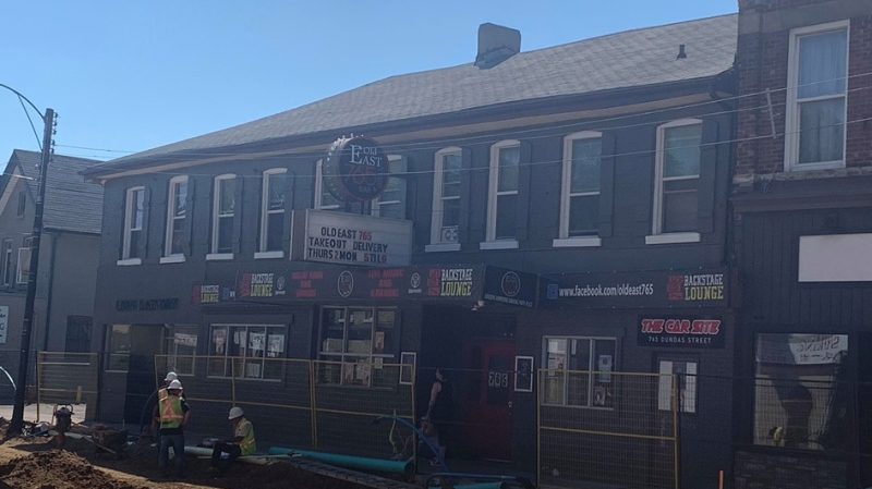 Old East 765 Bar and Grill on Dundas Street in London Ont. will host a virtual Canada Day concert with proceeds going to the artists. (Brent Lale/CTV London)