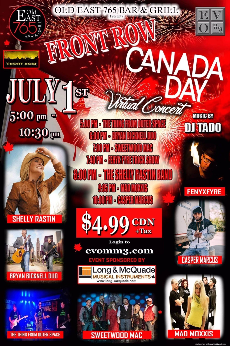 Old East 765 Bar and Grill on Dundas Street in London Ont. will host a virtual Canada Day concert with proceeds going to the artists.
