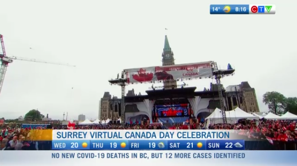 Surrey virtual Canada Day