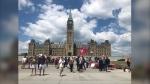 Canada Day on Parliament Hill. (Christina Succi/CTV News Ottawa)
