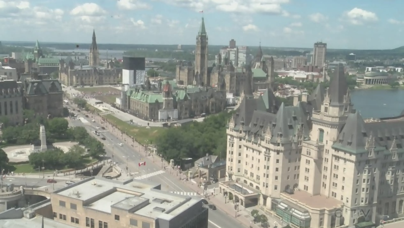 A look at downtown Ottawa on Canada Day during the COVID-19 pandemic.