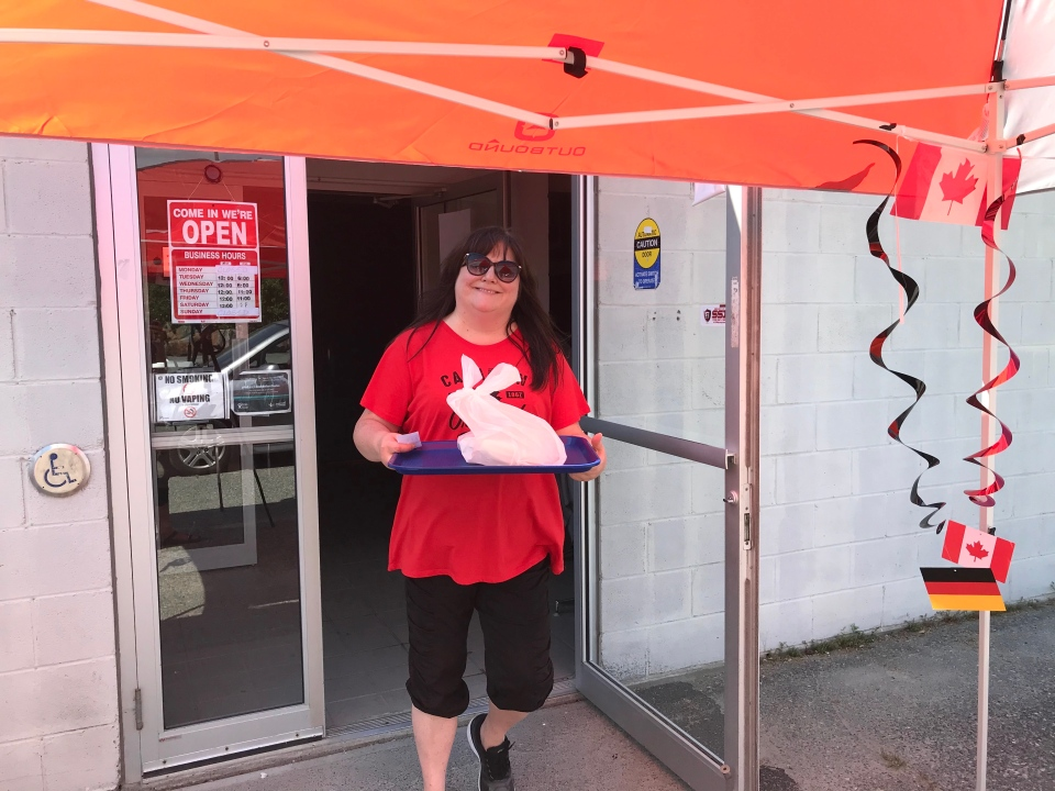 The Lockerby branch of the Royal Canadian Legion was happy to celebrate Canada's birthday Wednesday by hosting a picnic drive-thru. (Molly Frommer/CTV News)