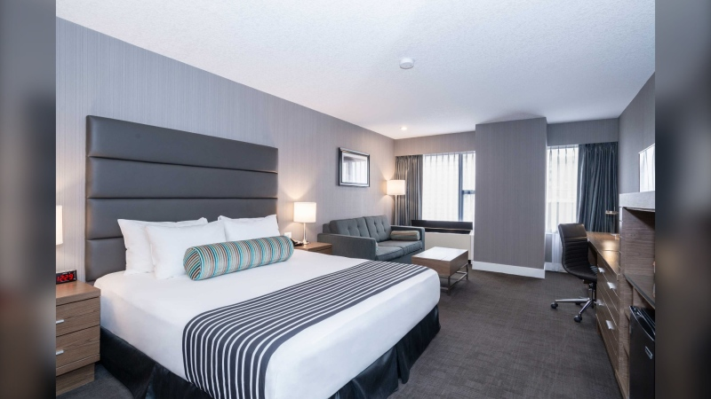 One of the newly renovated rooms at the Sandman Signature Calgary Downtown. (Courtesy Sandman Hotel Group)
