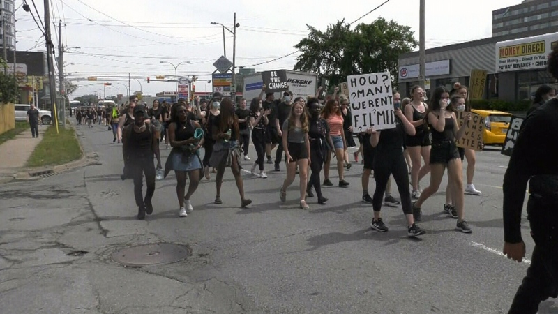 Maritimers protest systemic racism on Canada Day