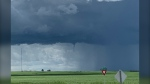 Social media users have been posting photos of possible funnel clouds in southern Alberta. (Twitter/Terri Spivak)