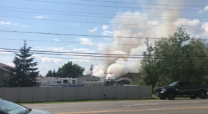 Fire crews respond to a blaze in the Valley