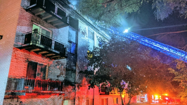 Four people were injured, one critically, in a fire at an apartment building on McArthur Ave. Wednesday night. (July 1, 2020, Twitter: Scott Stilborn/OFSFirePhoto)