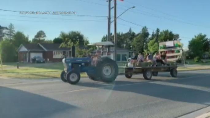 hay wagon parade