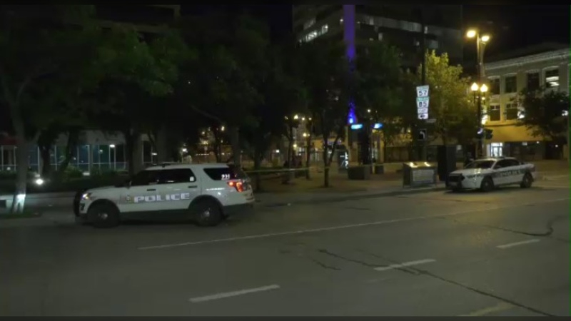 Winnipeg police were on scene in the city's downtown area.