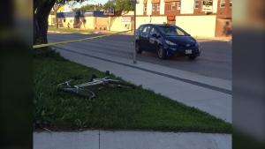 The crash took place on Keewatin Street. (Source: Gary Robson/CTV Winnipeg)