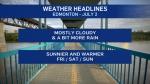 Edmonton weather July 2