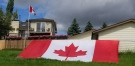 Viewer photo of Canadian flags in Calgary on Canada Day 2020