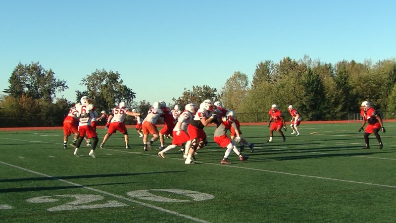 SFU football is seen in this file photo.