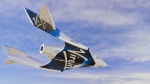 Virgin Galactic SpaceshipTwo Unity flys free in the New Mexico Airspace for the first time on May 1, 2020. (Virgin Galactic via AP)