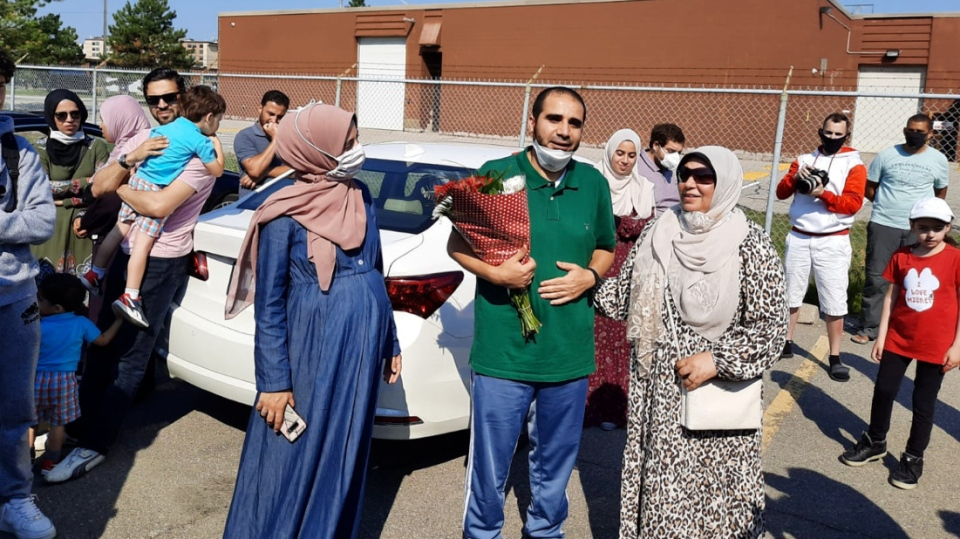 Yasser Albaz is seen in this photo supplied by his family after returning to Canada.