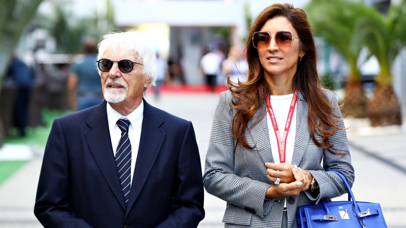 Former Formula One mogul Bernie Ecclestone, 89, and wife Fabiana Flosi, 44, have announced the birth of their son. (Mark Thompson/Getty Images/FILE)