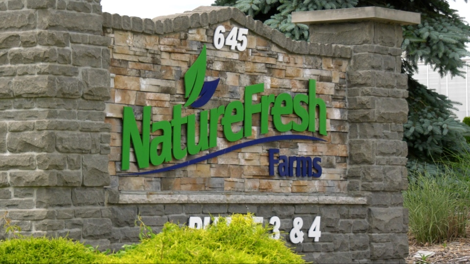Entrance to Nature Fresh Farms in Leamington, Ont. on June 24, 2020. (Rich Garton / CTV Windsor)