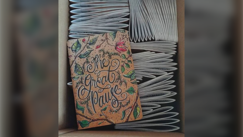 The Great Pause sketchbook, by Andrea Emery, documents life during COVID-19. (Photo: Andrea Emery / Instagram)