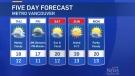 Thursday's weather forecast