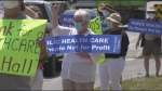 Protesters concerned by provincial home care bill