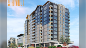 An artist's rendering of the Tallwood 1 building: (Design Build Services)