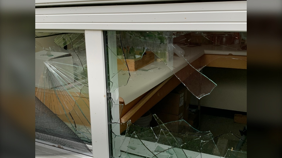 Damage at Cranberry Portage high school