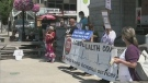 Rally opposing Bill to privatize home-care service