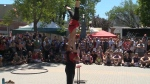 Performers at a past Edmonton International Street Performer Festival. (CTV News Edmonton)