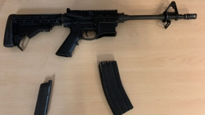 The firearm seized by police is shown: (VicPD)