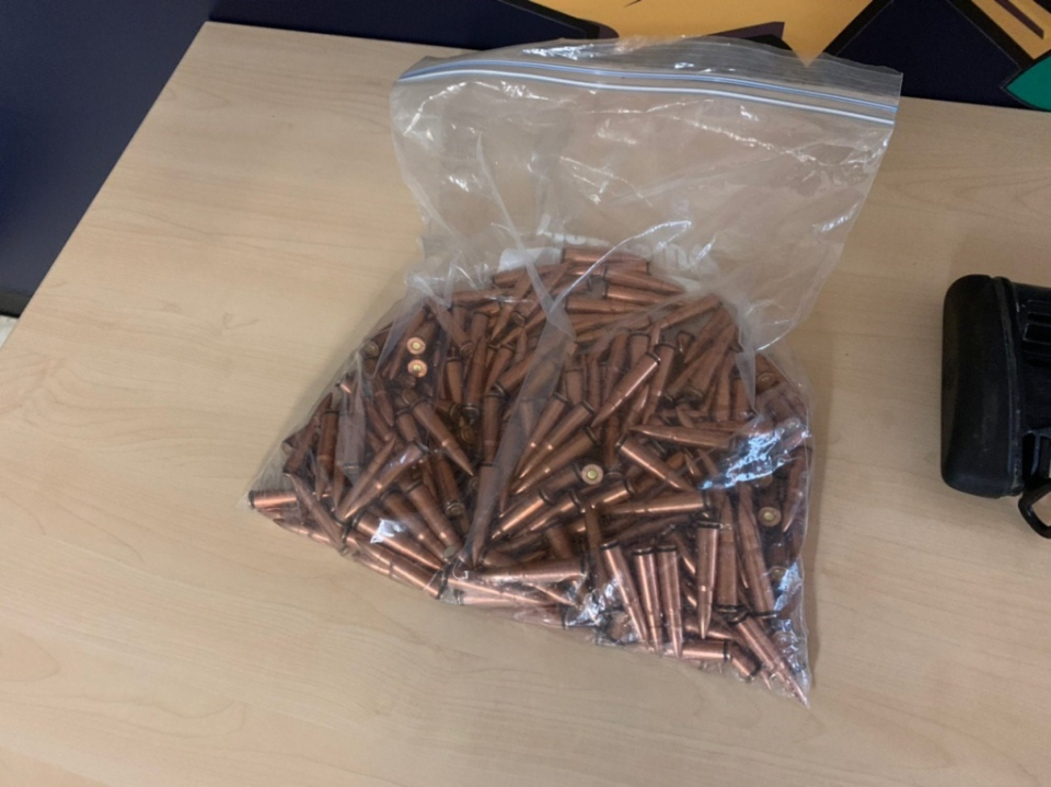 Some of the ammunition seized by police is shown: (VicPD)