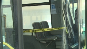 Limited seating and a new plastic barrier are just some of the new health precautions on Regina Transit.