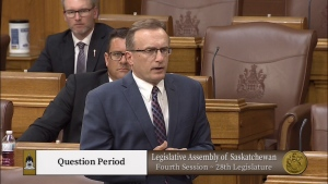 A comment from Jim Reiter during Question Period kicked off a fiery exchange in the Legislature.