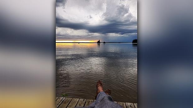 Looking at Wekusko Lake. Photo by Stephanie Dutka.