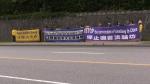 Protesters condemn prison sentence