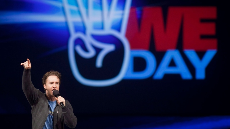 Craig Kielburger, founder of the charity Free the Children, speaks at the charity's We Day celebrations in Kitchener, Ontario, Thursday, February 17, 2011. We Day was started to celebrate the power of young people. THE CANADIAN PRESS/Geoff Robins