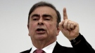 In this Jan. 8, 2020, file photo, Nissan's former Chairman Carlos Ghosn speaks at a press conference in Beirut, Lebanon. (AP Photo/Maya Alleruzzo, File)