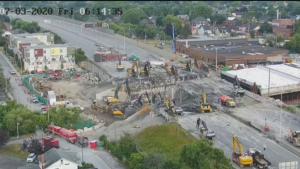 (Source: Hwy 417 CPR/O-Train Bridge Replacement Live Stream Camera)