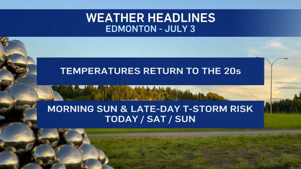 Edmonton weather July 3