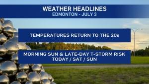 Edmonton weather July 3