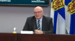Nova Scotia chief medical officer of health Dr. Robert Strang provides an update on COVID-19 during a news conference in Halifax on July 3, 2020.