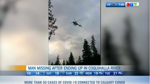Headlines, search continues, Coquihalla river