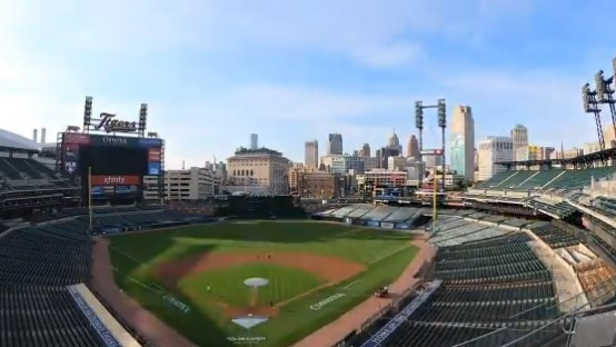 Training camp returns to Comerica Park in Detroit. (Courtesy Detroit Tigers / Twitter)